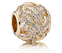 Damen-Bead Charms Silber_vergoldet 750991CZ
