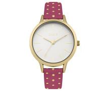 Datum klassisch Quarz Uhr mit PU Armband B1600