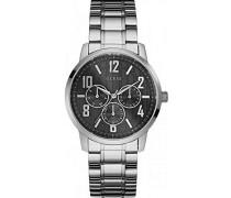 Analog Quarz Uhr mit Edelstahl Armband W0605G1