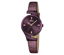Damen Analog Uhr mit Leder Armband 18346/1