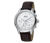 Chronograph Quarz Uhr mit Leder Armband JC1G038L0015