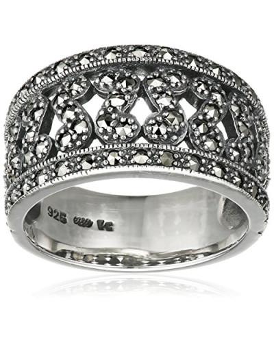 Ring 925 Silber vintage-oxidized Markasit 58 (18.5) - L0009R/90/B3/58