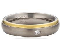 Ring Titan Diamant (0.03 ct) Brillantschliff,weiß
