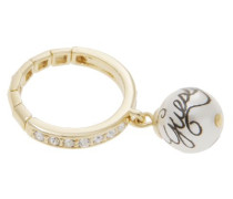Damen-Ring Edelstahl goldfarben Metall UBR81004-S