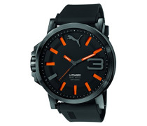 Armbanduhr Datum klassisch Quarz Silikon PU103911001