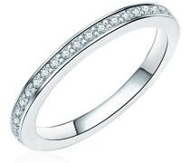 Ring 925 Sterling Silber Zirkonia weiß - Silberring in Memoire-Form mit Zirkonia farblos Vorsteckring 608370670