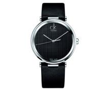 Herren-Armbanduhr Analog Quarz Leder K1S21102