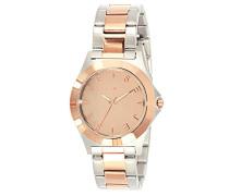 59796-032-Bright-J Armbanduhr Alyce Quarz analog Armband Stahl-bi-color-pink
