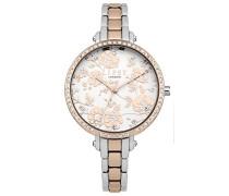 Datum klassisch Quarz Uhr mit Aluminium Armband LP569
