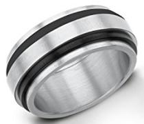 Herren-Ring IP Black Beschichtung Edelstahl