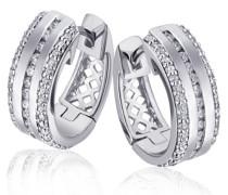 Creolen Glamour 14 Karat 585 Weißgold 100 Diamanten 0