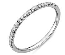 Ring 9 Karat (375) Weißgold Diamant 0,2 Karat, Größe 52