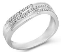 Ring 9 Karat (375) Weißgold Diamant 55 (17.5) SA928R5