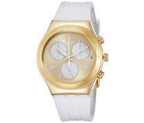 Erwachsene Chronograph Quarz Uhr mit Silikon Armband YCG415
