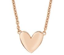 Kette 45 cm So Pure mit Herz-Anhänger 925 Sterling Silber rosévergoldet