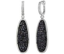 Ohrringe Sterling Silber mit Schwarze Cubic Zirkonia Steinen 4