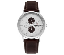 Datum klassisch Quarz Uhr mit Leder Armband WBS104UT