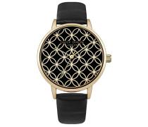 Damen Analog Quarz Uhr mit Leder Armband DD034BG