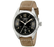 Analog Automatik Uhr mit Leder Armband H70505833