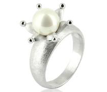 Ring Feenzauber 925 Silber rhodiniert Perle Weiß