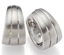 Creolen 925 Silber rhodiniert mattiert - 790064