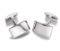 Sterling Silber Einfache Halbrunde Rechteckige Manschettenknöpfe