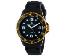 Armbanduhr für mit Analog Anzeige, Quarz-Uhr und Silikonarmband - Wasserdichte Herrenarmbanduhr mit zeitlosem