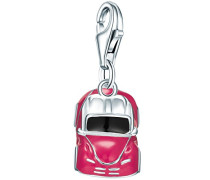 Charm Collection Charm Cabrio 925 Sterling Silber Zirkonia Emaille pink / 60600095
