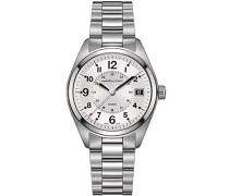 Analog Quarz Uhr mit Edelstahl Armband H68551153