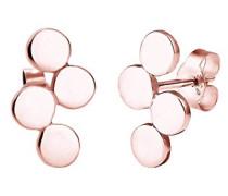 Ohrringe Kreis Geo Minimalismus Basic Zeitlos Geometrisch Filigran rosé vergoldet silber 925 0312560516