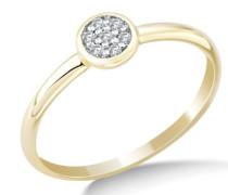 Damen-Ring mit Brillanten 9 Karat 375 Gelbgold
