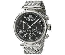 Armbanduhr für mit Analog-Anzeige, Chronograph mit Edelstahl Armband - Wasserdichte Herrenarmbanduhr mit zeitlosem