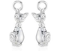 Ohring Einhänger für Creolen 925 Silber Katze LD MR 45
