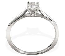 Ring I love You Solitär 585 Weißgold 1 Brillant 0