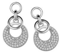 Ohrhänger 925 Sterling Silber rhodiniert Zirkonia weiß ZO-5226