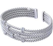Damen-Armreif Silber rhodiniert, Ø 60 mm