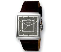 Armbanduhr XL Analog Quarz Leder JP100411007U