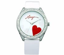 Damen-Armbanduhr Analog weiß M1072W