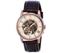 Erwachsene Analog Automatik Smart Watch Armbanduhr mit Leder Armband ES-8802-04