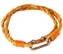 BOSS Orange Herren Armband Leder braun