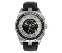 Herren-Armbanduhr Analog Quarz Leder DHH 005-FA