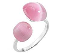 Ringe 925 Sterlingsilber mit Kissenschliff Katzenauge - Ringgröße 58 (18.5) SAKK34018