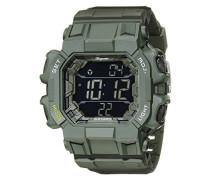Armbanduhr für mit Digital Anzeige, Chronograph mit Kunststoff Armband - Wasserdichte Herrenarmbanduhr mit zeitlosem