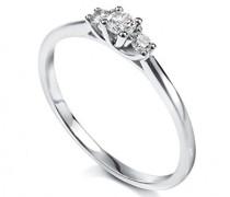Ring, Weißgold 750/1000, Diamant, 49 (15.6)