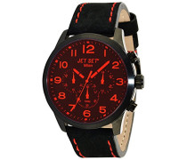 – j6480b-217 – Mailand Armbanduhr – Quarz Chronograph – Zifferblatt schwarz Armband Stahl Silber
