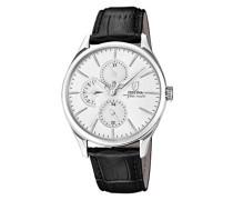 Analog Quarz Uhr mit Leder Armband F16992/1