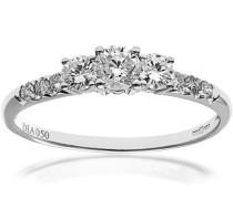Ring 9 K Weißgold Diamant 0
