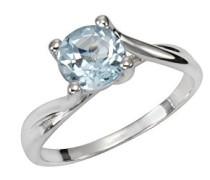 Verlobungsringe 925_Sterling_Silber mit Asscherschliff Topas '- Ringgröße 56 (17.8) 358271382-56