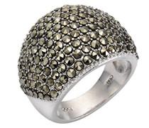 Ringe 925_Sterling_Silber mit Asscherschliff Markasit '- Ringgröße 53 (16.9) 358271182-017