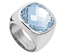 Damen-Ring Simona Edelstahl Glas blau